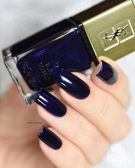 Nail Azul Marinho Muito linda
