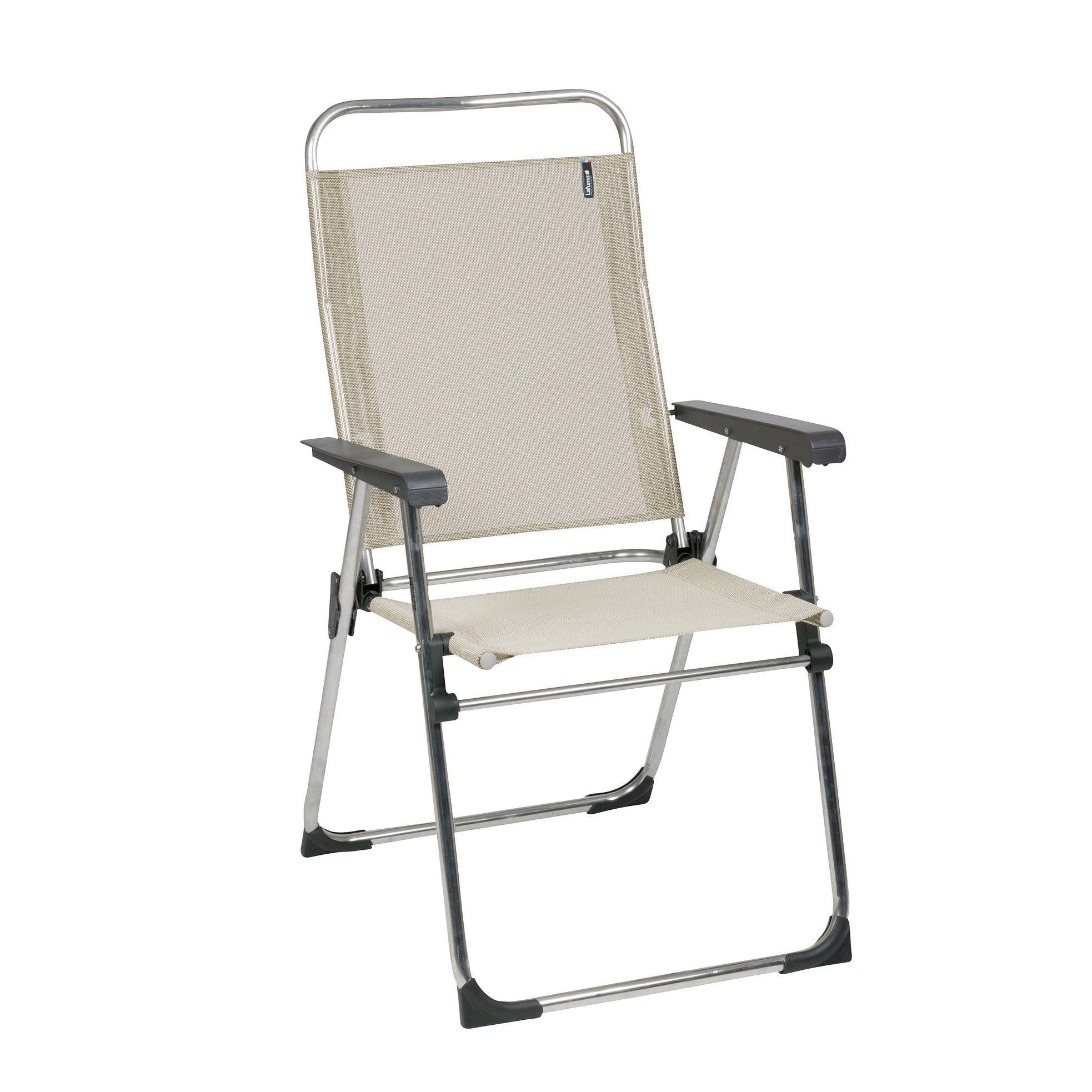 Lafuma Victoria Alu brut Aluminum Frame Folding Chair with Seigle