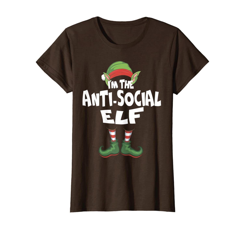 I'm The Anti-Social Elf Christmas Eve X-mas Elf Team Costume T-Shirt