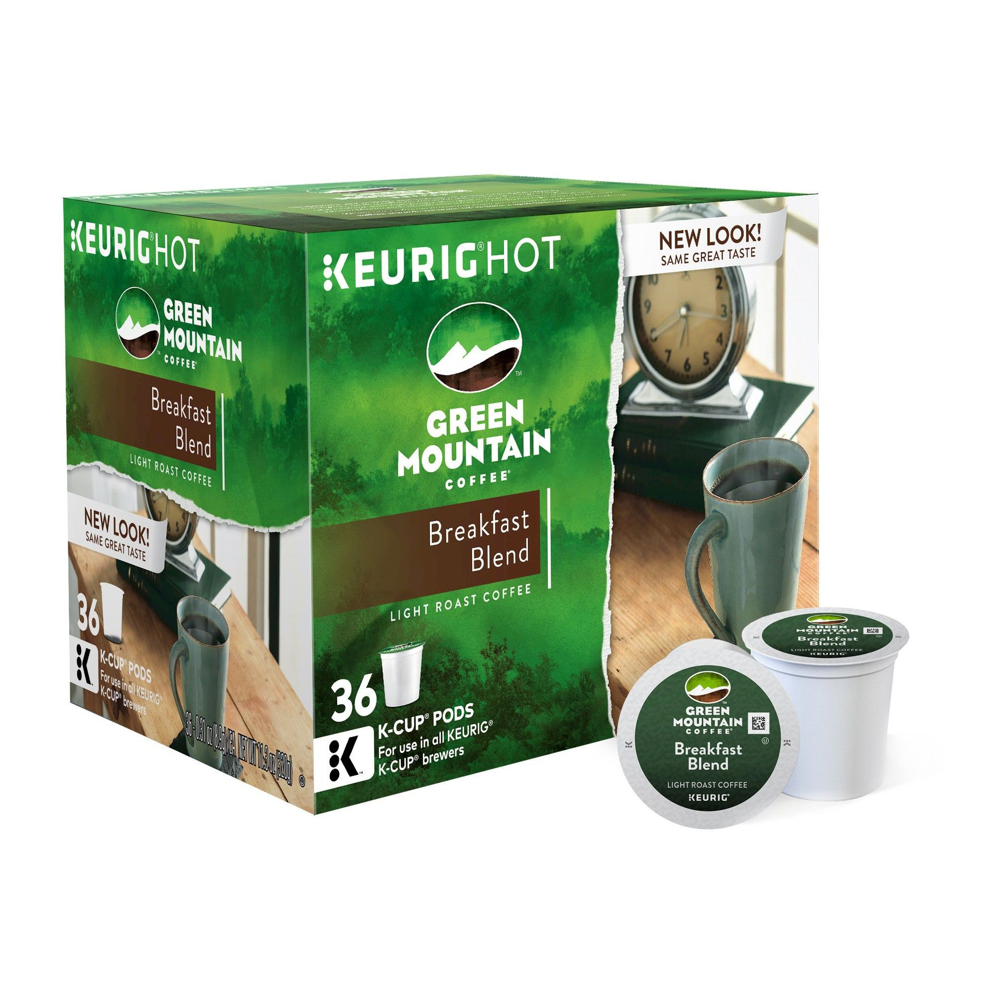 Green Mountain Breakfast Blend Light Roast Coffee KCup