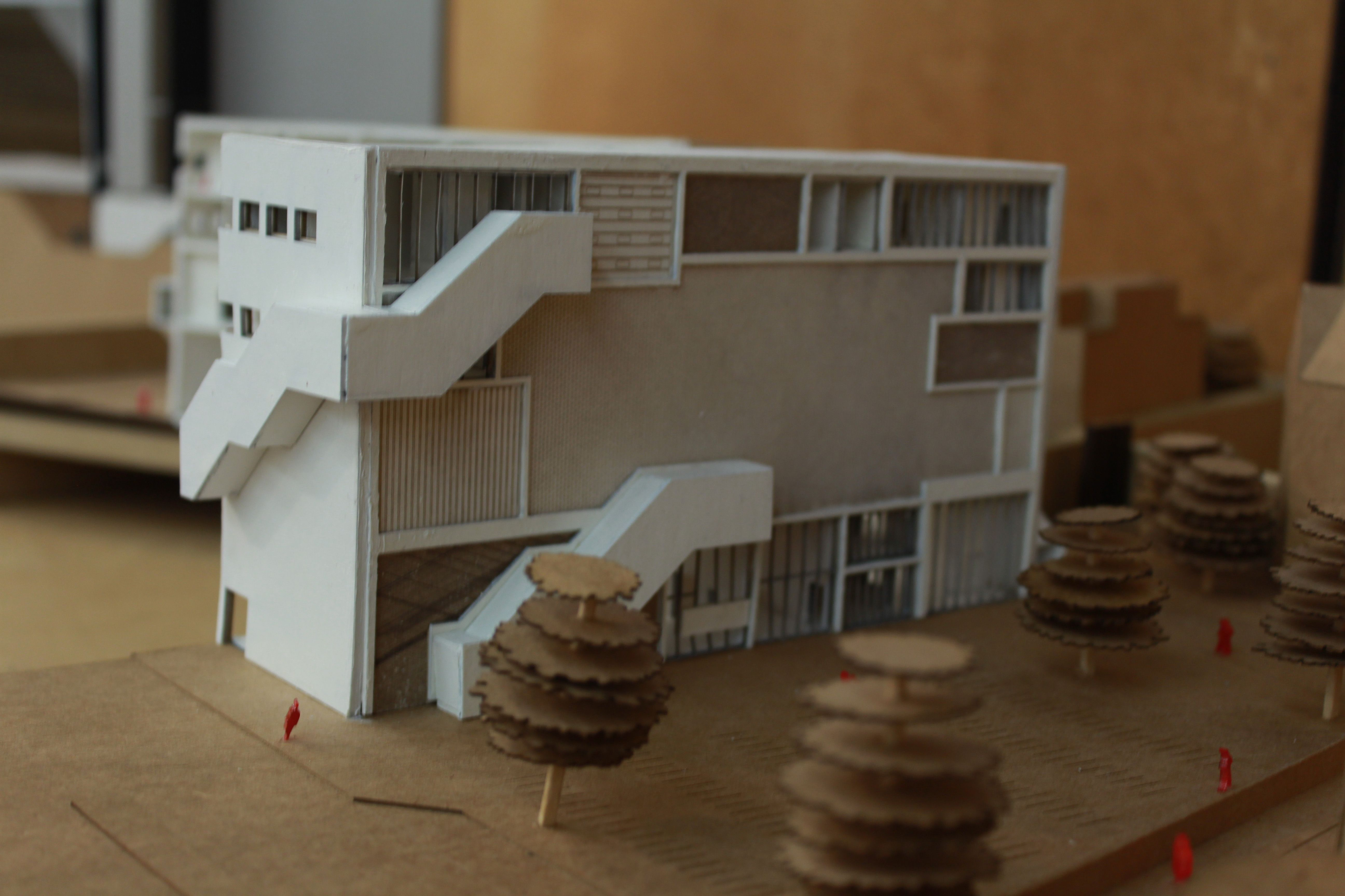 Effenaar | Eindhoven | MVRDV | group project - 1:200 sectional model
