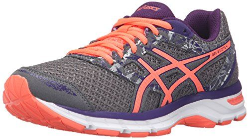 90f984c5d9 ASICS Women's Gel-Excite 4 Running Shoe, Shark/Flash Coral/Parachute Purple