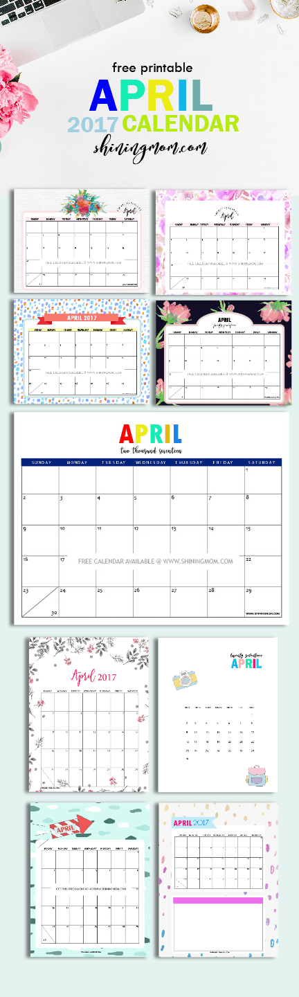 Pretty Free Printable Calendars For April   Free Printable