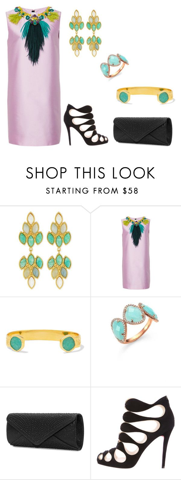 """""""Exotic Beauty"""" by karen-galves on Polyvore featuring Stephanie Kantis, Monica Vinader, Meira T, Mascara and Christian Louboutin"""