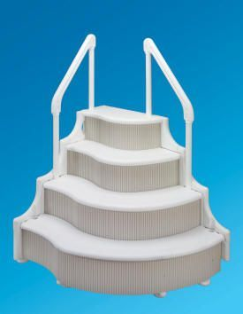 above ground pool ladders steps and entry systems above ground pools experts - Above Ground Pool Steps