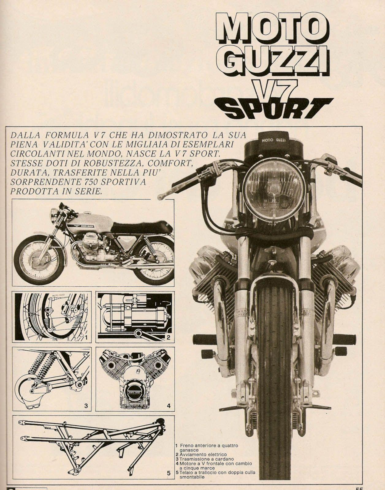 Moto Guzzi V7 Sport - such a beautiful bike, then and now. Always ...