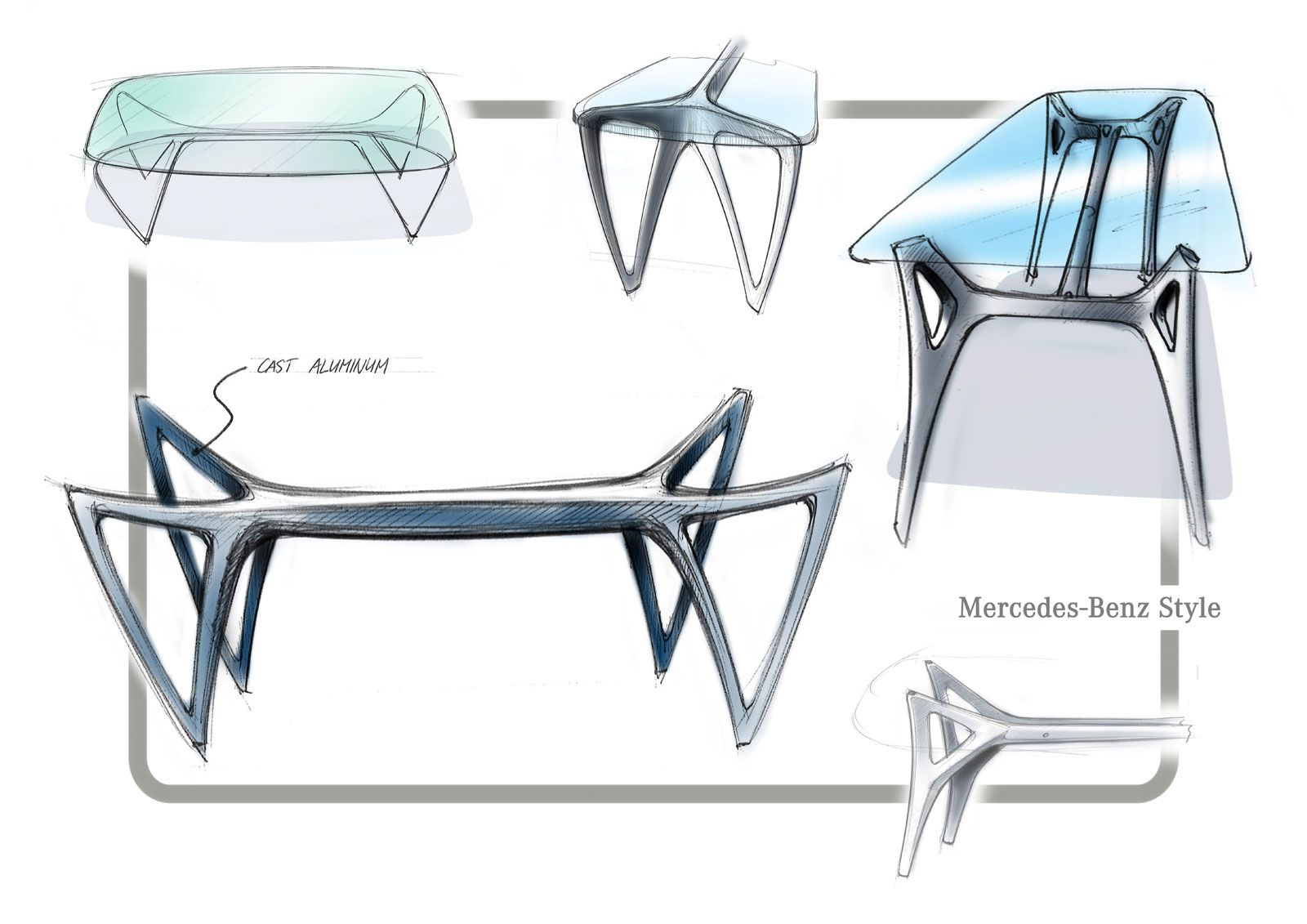 Charmant Mercedes Benz Dining Table MBS 002   Design Sketch