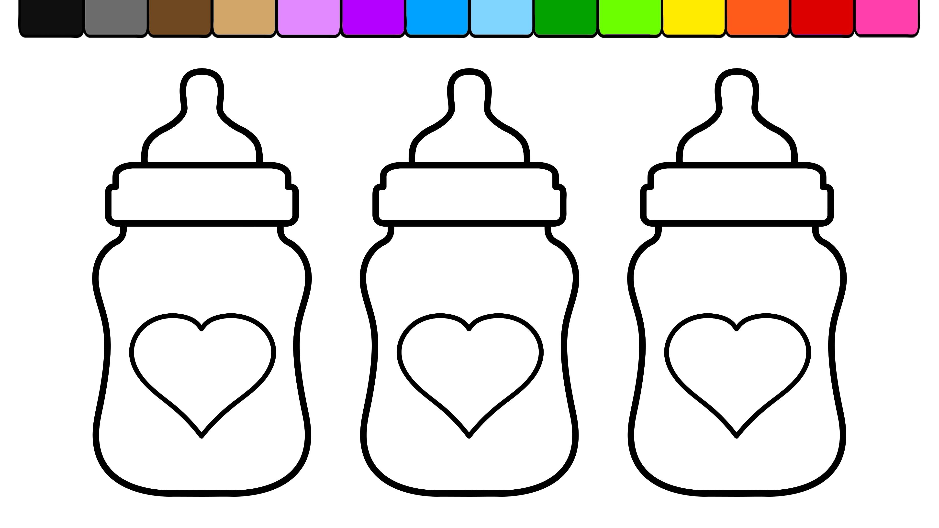 Baby Bottle Coloring Page Baby Bottles Coloring Pages Baby Bottle Organization