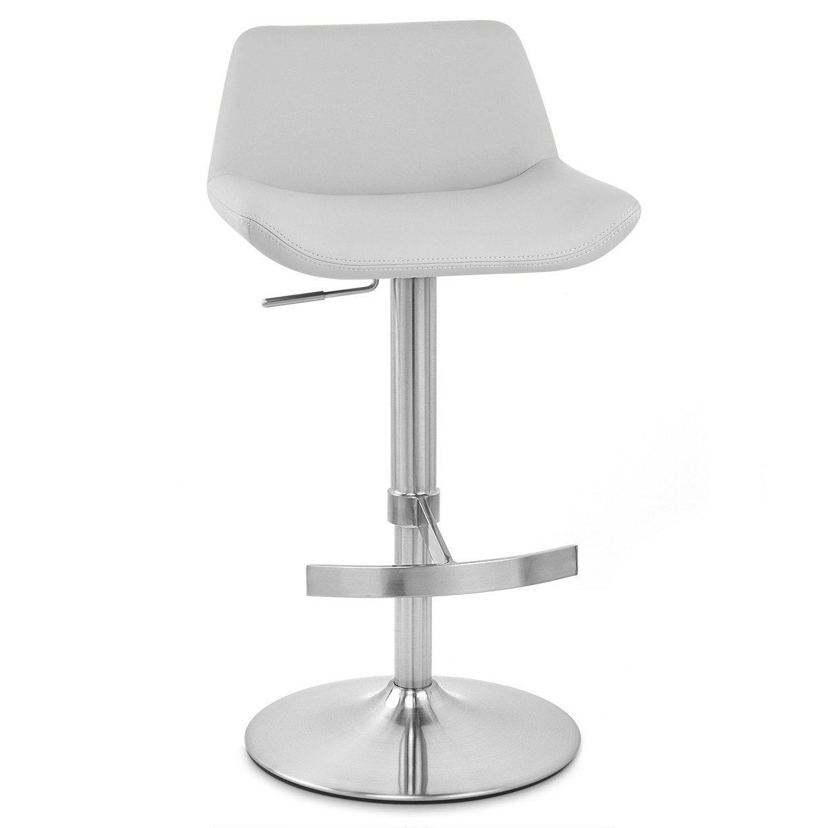 Tabouret De Bar Chic Simili Cuir Gris Christina Bar Chic Simili Cuir Et Tabouret