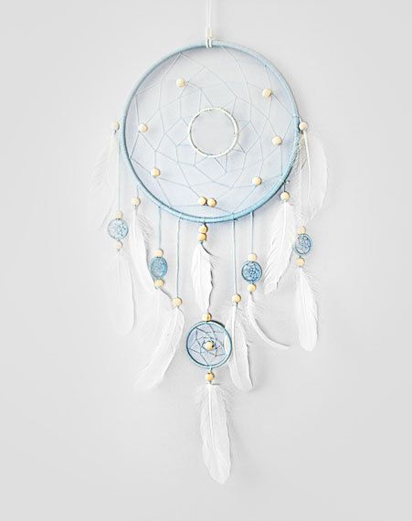 Blue White Dream Catcher Large Dreamcatcher By Magicalsweetdreams
