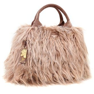 82e4dab3c415 PRADA bag PRADA Eco fur tote bag BN1918 ECO KIDASSIA PHARD light brown
