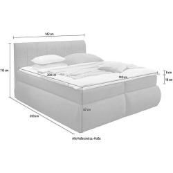 Box spring beds -  Delavita box spring bed Jonasson 3 widths with cold foam topper and 2-in-1 turning system (2 degree - #Beds #box #boysbedroom #linenbedideas #minimalistbedroommen #sofabeddiy #spring #woodenbeddiy