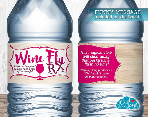 Funny Water Bottle Labels Instant Download WineThemed Party Wine - Bachelorette water bottle label template