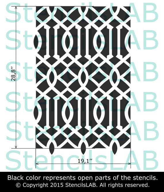 cinnamon moroccan wall stencil classic wall stencil diy seamless pattern stencil all over. Black Bedroom Furniture Sets. Home Design Ideas