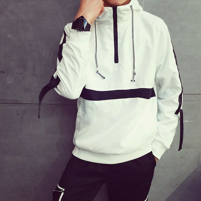 Find More Information about Hit the color long sleeved hoodies men 2015 new arrival stripe hedging Sweatshirts men black and white size M 2XL,High Quality hoodies babies,China hoodie tracksuit Suppliers, Cheap sweatshirt blank from JERRY  XU on Aliexpress.com