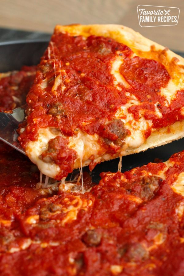 This Ginos Deep Dish Chicago Style Pizza Copycat is so incredibly good It  Friday Night Meals  This Ginos Deep Dish Chicago Style Pizza Copycat is so incredibly good It...