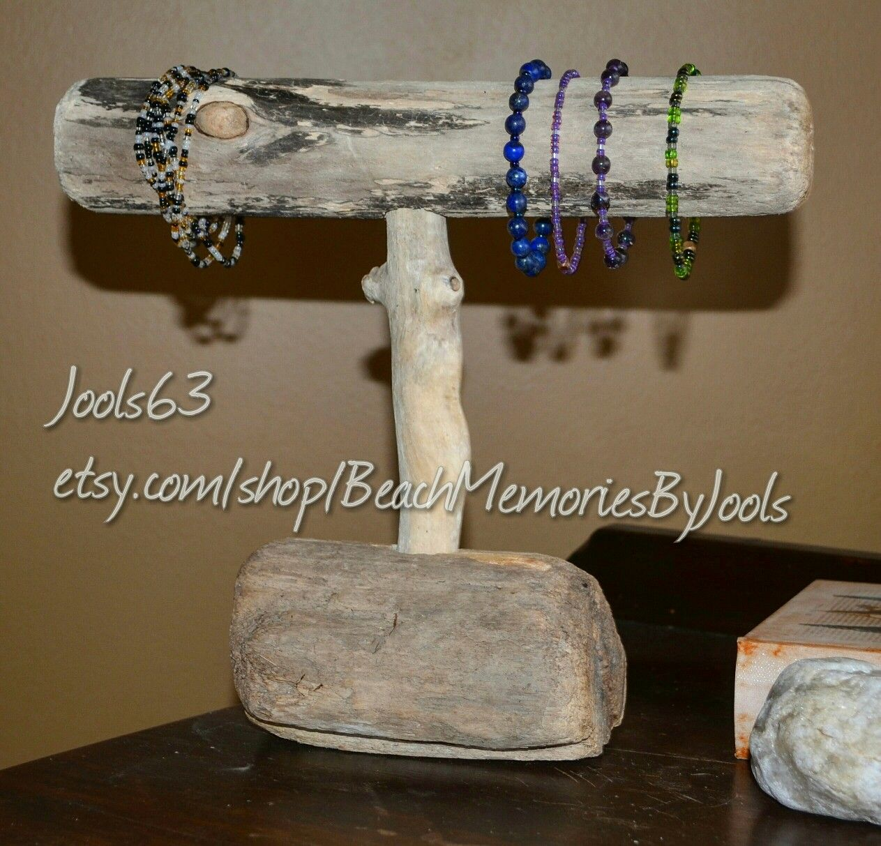 Driftwood art, bracelet holder, jewelry display, rustic art, driftwood jewelry display, driftwood jewelry holder.