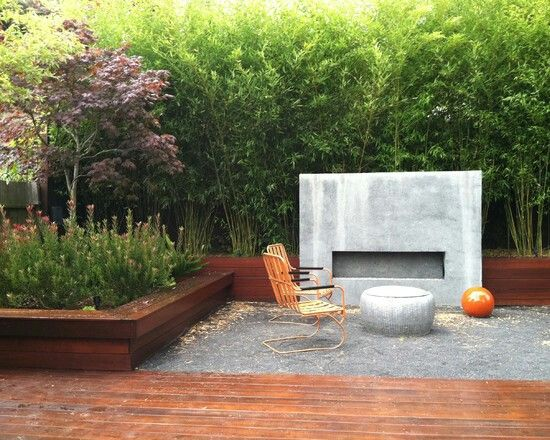 outdoor fireplace | tuin ydee | pinterest | bamboo hedge, Garten und bauen