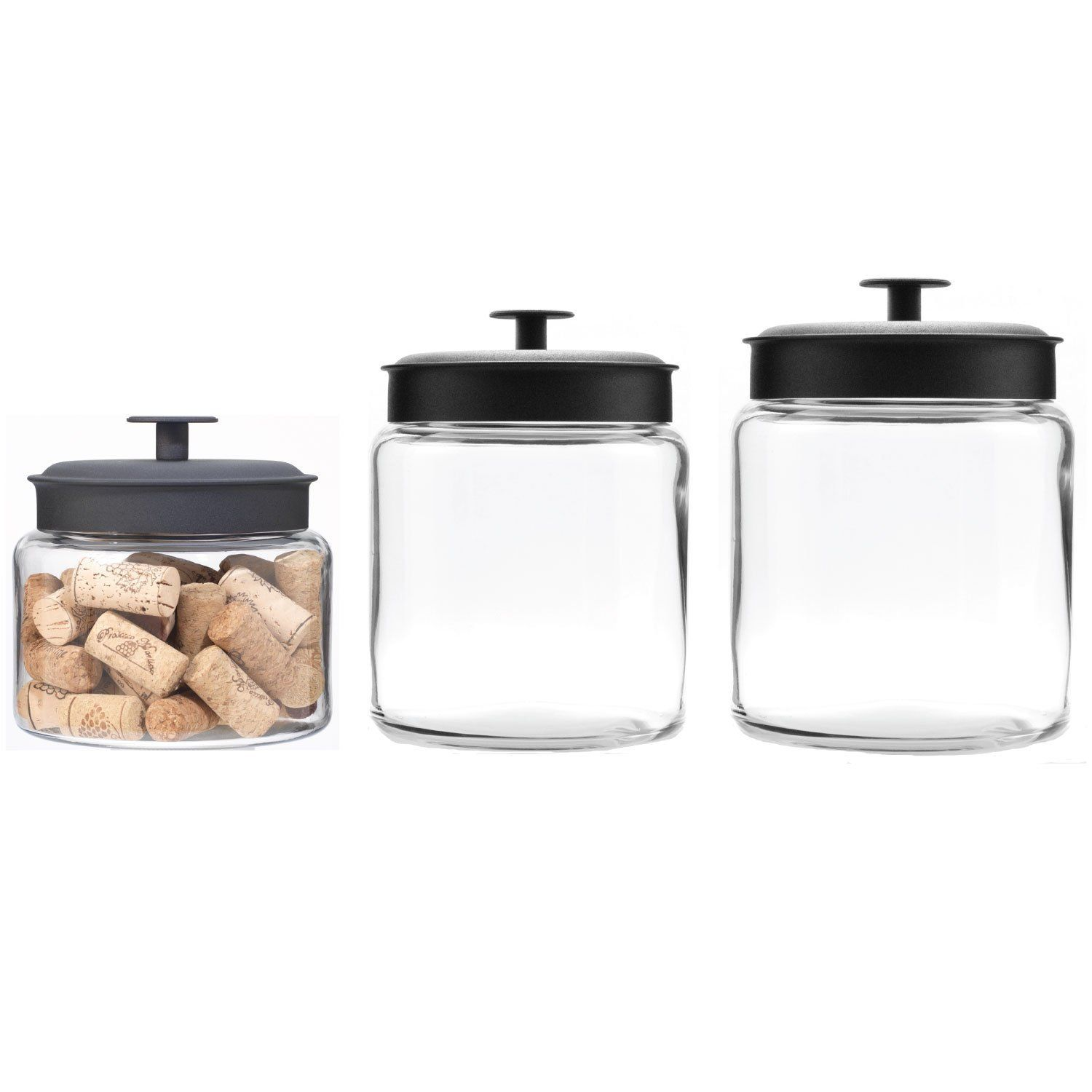 Airtight Cookie Jar Amazon Anchor Hocking Montana Glass Jars With Airtight Lids
