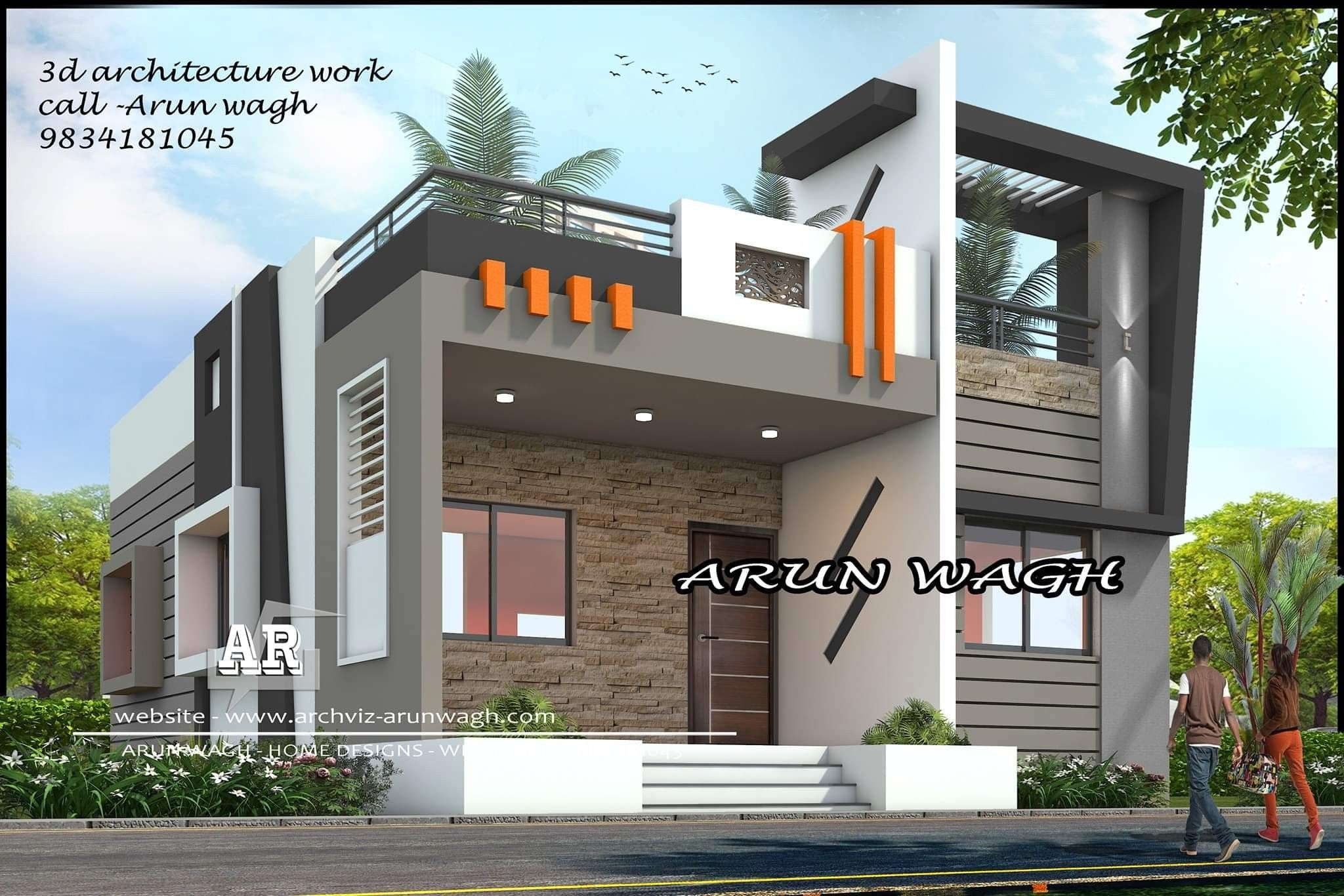 Elegant Ultra Modern House Plans India Small Front Design Balcony Exterior