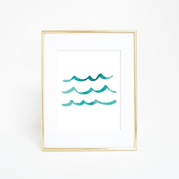 Set sail on the open sea without ever leaving your home with this aqua wave print. It's simple design will add a beachy or nautical vibe to any home or office.