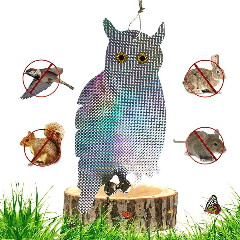 2u201eFake Owl Decoy Scare Birds Squirrels Away Reflecting Eyes Repel Garden  Pests #ebay #Home U0026 Garden
