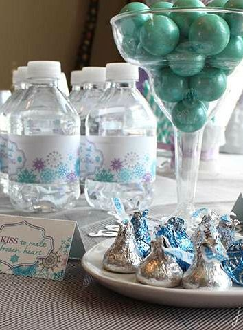 Treats at a Frozen birthday party!  See more party planning ideas at CatchMyParty.com!