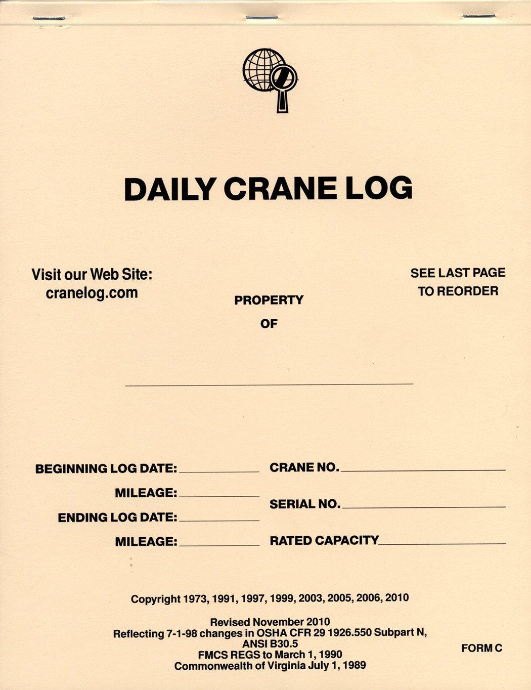 Crane Maintenance Log Book | Products | Books, Training