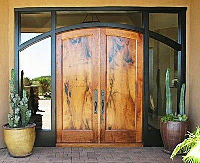 Classic Wooden Double Entry Front Door Design Modern Front Door