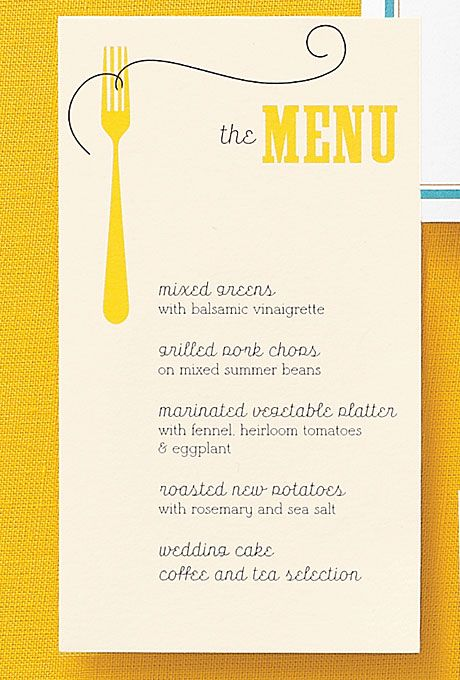 The Ultimate Guide to Table Stationery | Menu cards, Reception and ...