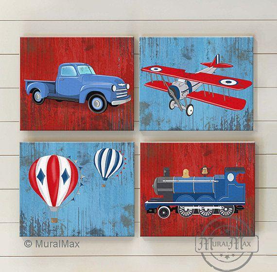 Wall Decor Set Of 4 Canvas Art