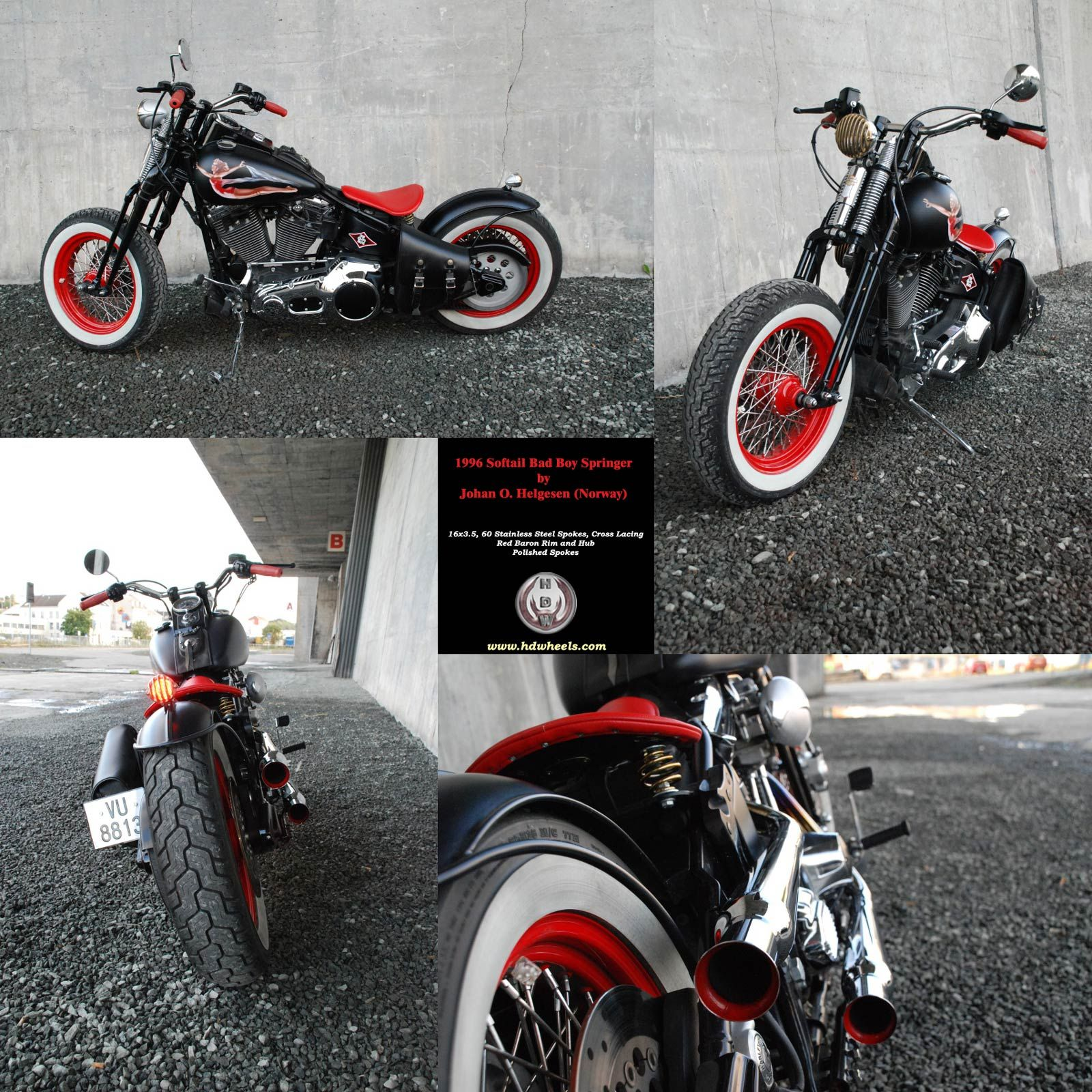 softail bobber red wheels ww | Cars and Bikes | Pinterest | Bobbers ...