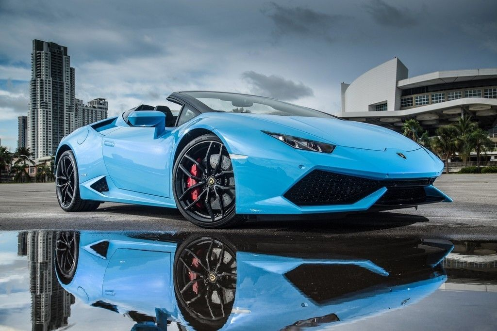 Lamborghini Huracan, Blue Sports Car, 4k Wallpaper