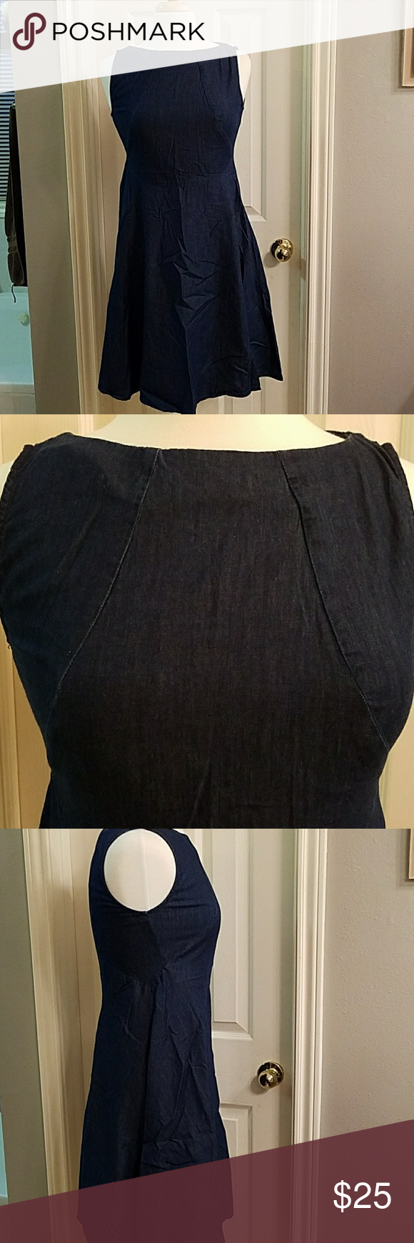 Beautiful zara light weight denim dress arm pits bodice and
