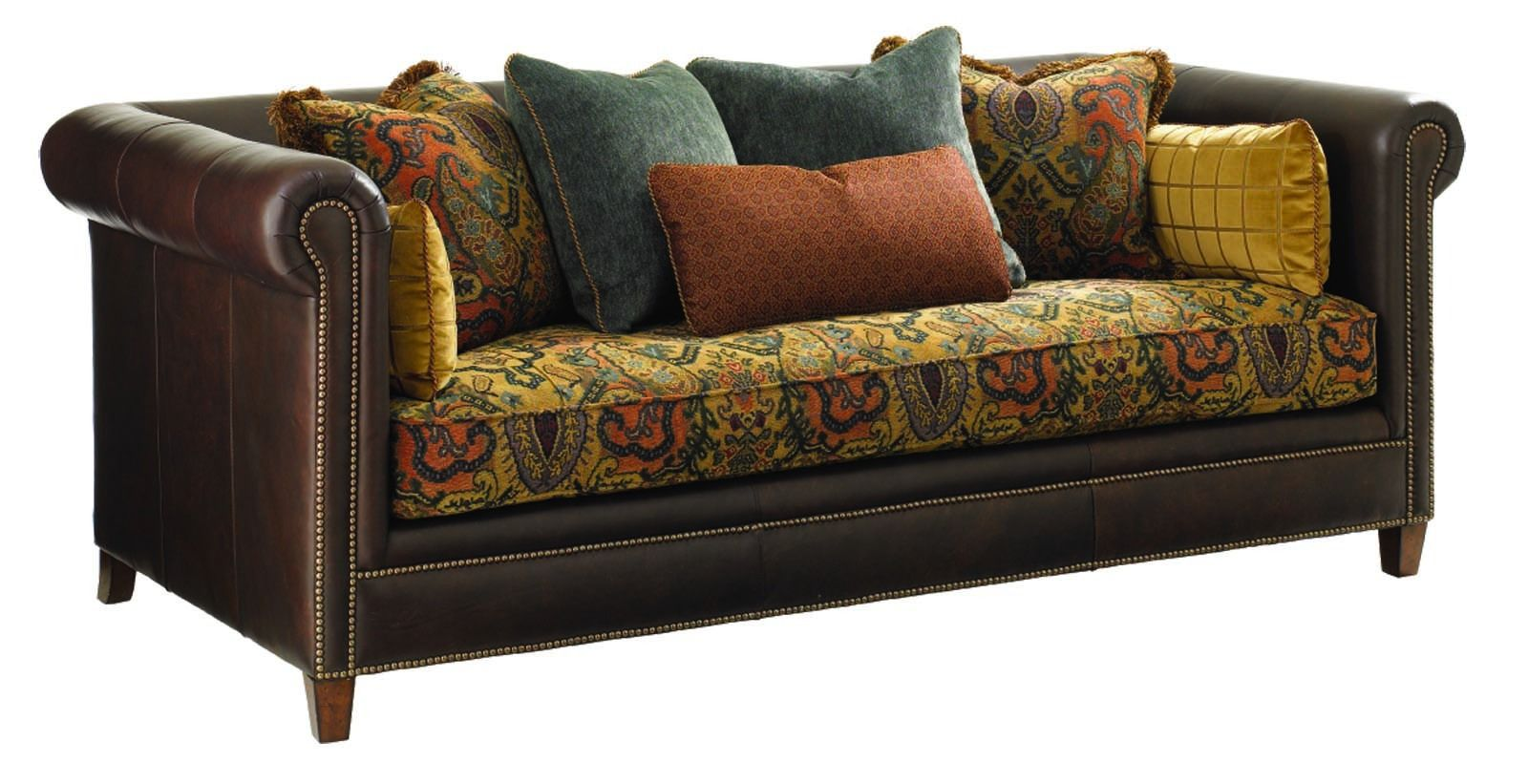 This Timeless Brown Owen Sofa Has Pleated Rolled Arms And Is Covered In Luxurious Renu Leather Fabric Description From Sofa Couch Fabric Sofa Cloth