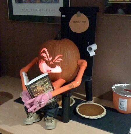 This is how pumkin pies are really made.