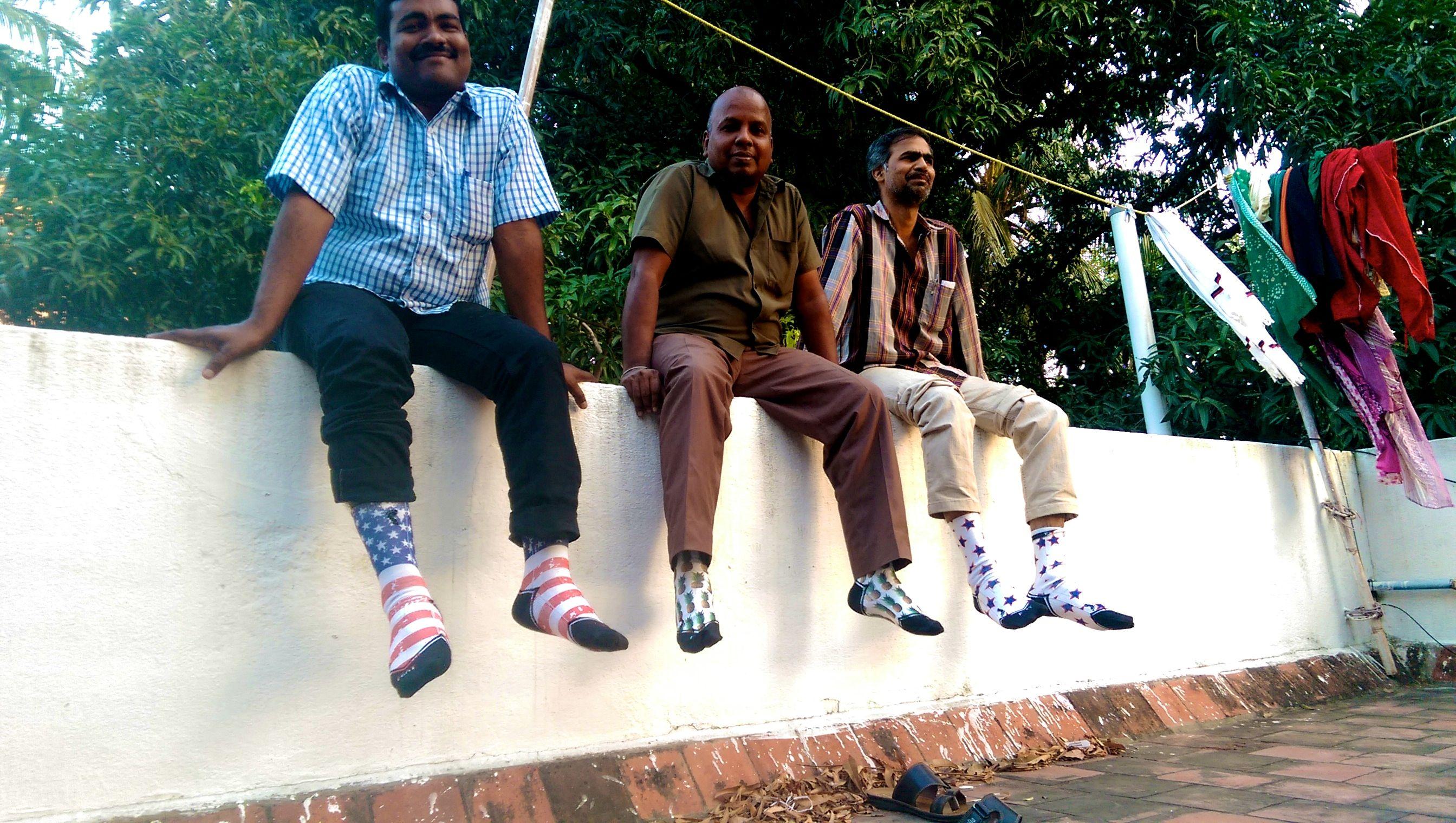 FEAT Socks spreading joy to families in Chennai, India.