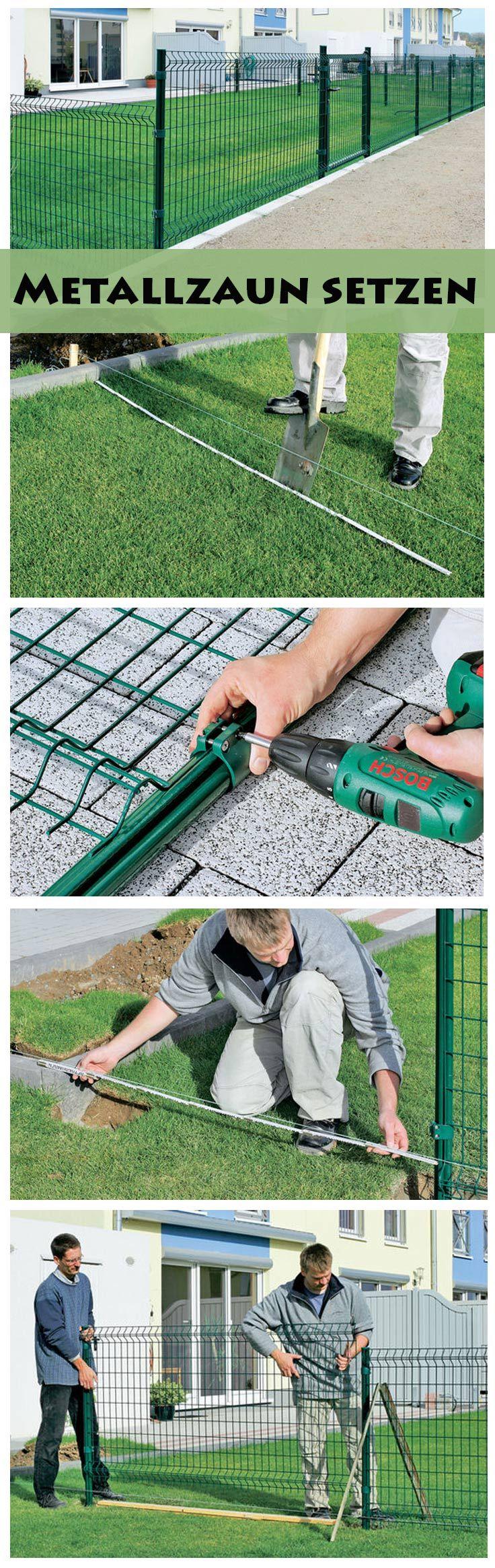 Metallzaun Garten Fence Metal Fence Und Garden