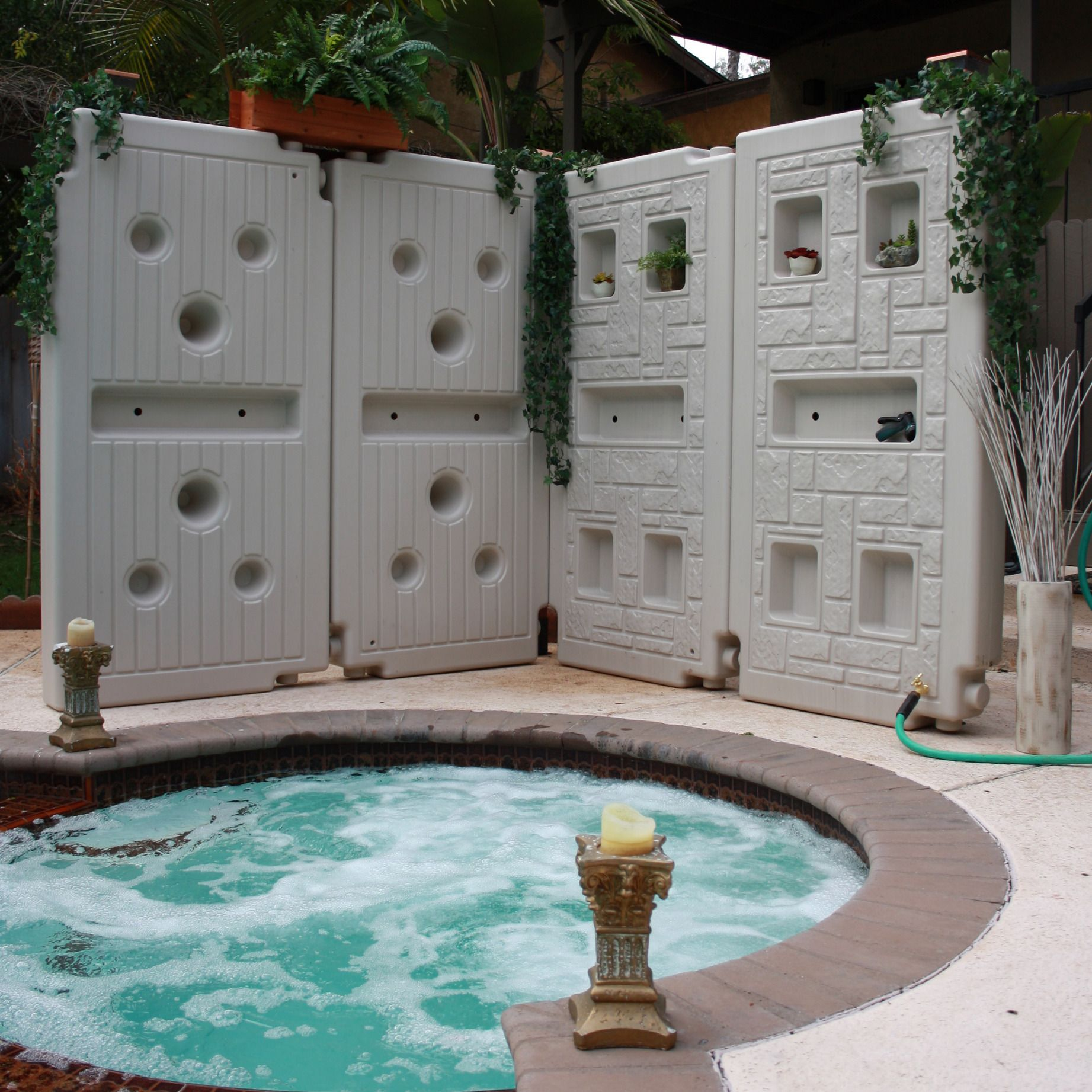 rain harvesting system plus solar pool heater sweet cool idea