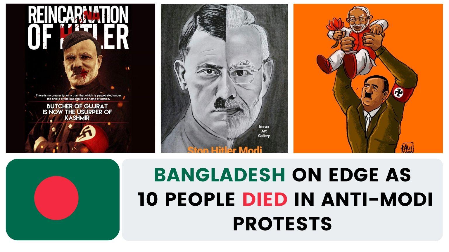 🇧🇩 Bangladesh on edge as 10 people died in anti-Modi protests | Modi visits Bangladesh