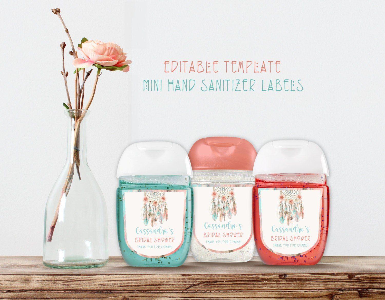 Free Printable Love Bug Label For Hand Sanitizer Bottles Label