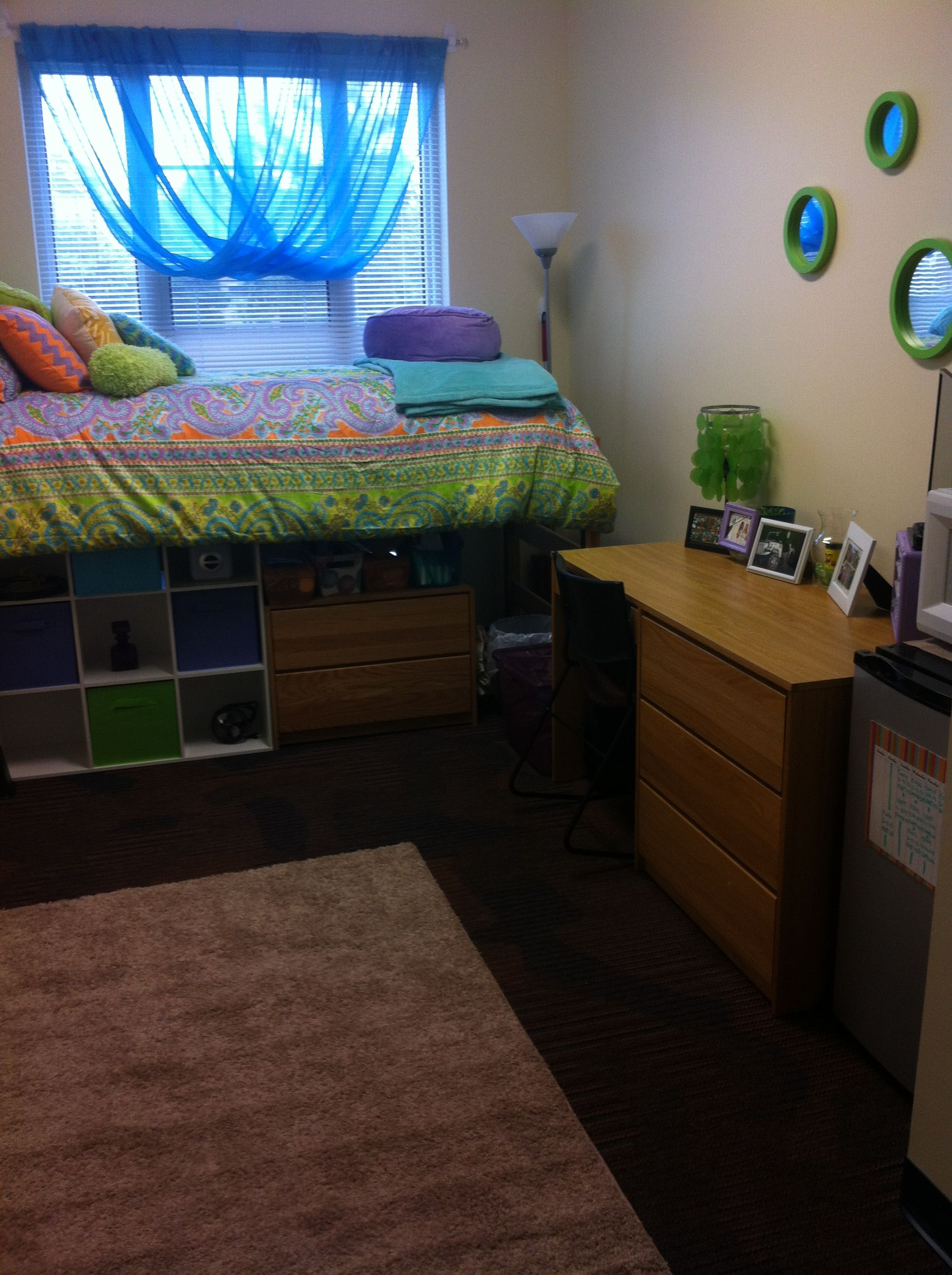 Dorm Room Layouts: Layout For A Single Room Or Suite Style College Dorm