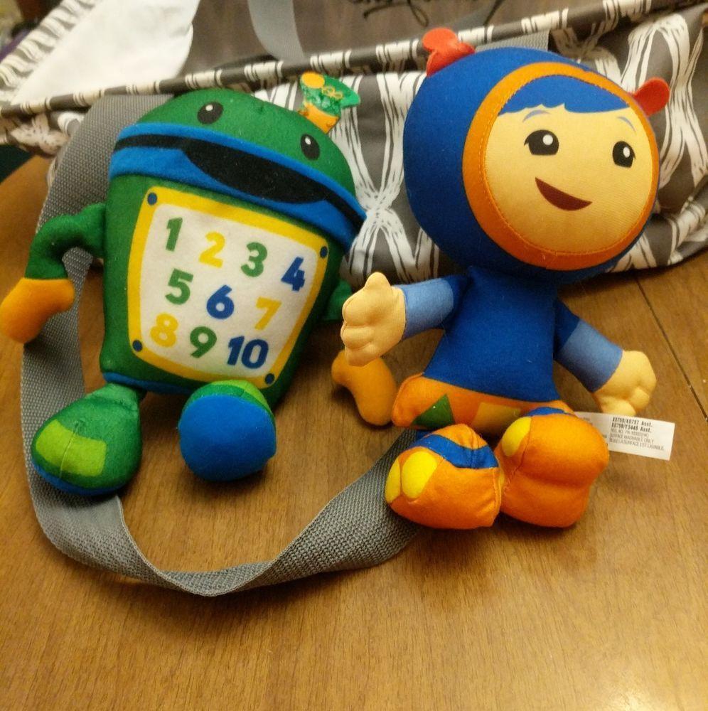 Nickelodeon Nick Jr Team Umizoomi Geo And Bot 9 Plush Dolls