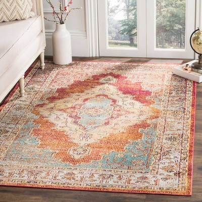 Photo of Crystal Orange/Light Blue Area Rug