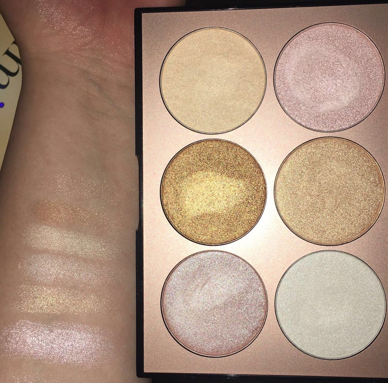 Sephora illuminate palette swatches✨ #highlighter #makeup ...