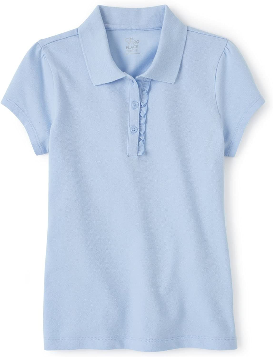The Childrens Place Girls Uniform Short Sleeve Polo