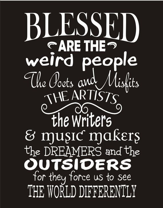 Blessed Are The Weird People Sign Stencil Por Superiorstencils