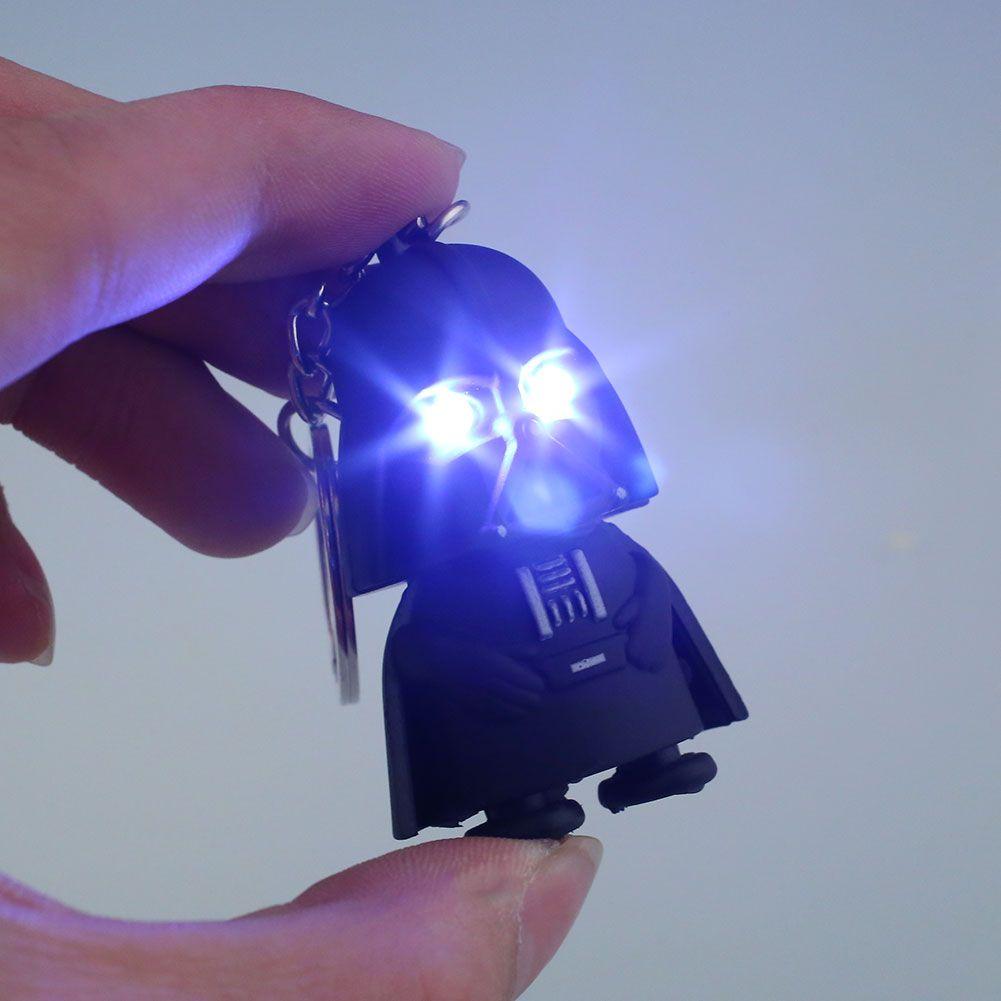 star wars black knight darth vader spielzeug led licht mit ton abs action figure schl sselbund. Black Bedroom Furniture Sets. Home Design Ideas
