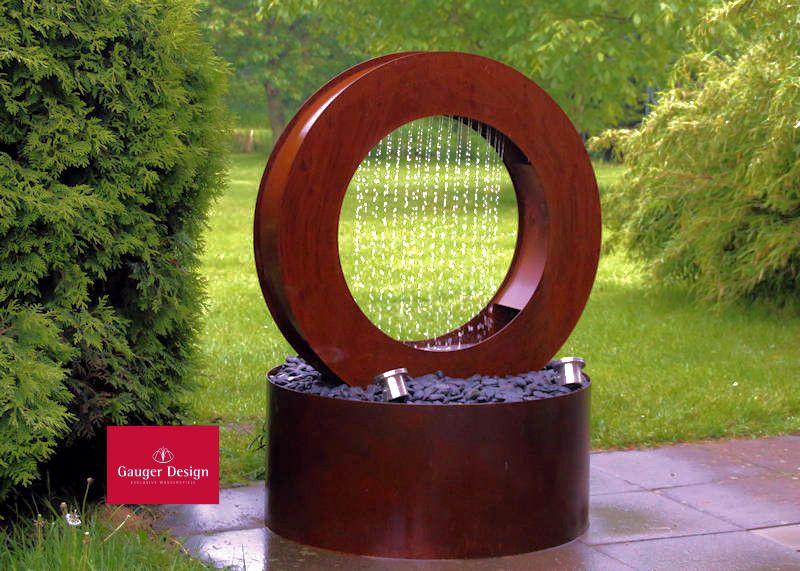 Cortenstahl Wasserwand Mit Led Beleuchtung 175cm Garten Brunnen