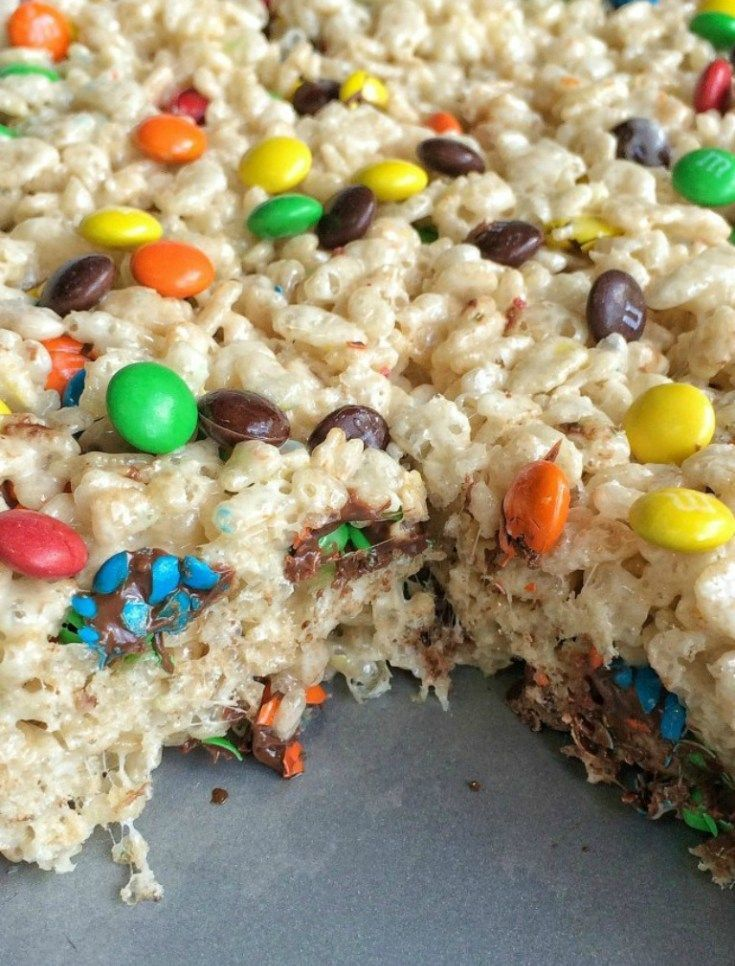 These M&M's rice krispies take traditional rice krispies to the next level! ... These M&M's rice krispies take traditional rice krispies to the next level! Loaded with chocolatey and colorful mini m&m's, these are sure to ...